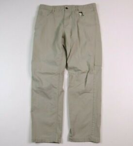 The North Face Mens 36X30 Outdoor Hiking Pant Cotton Blend Beige