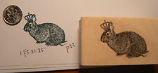 Royal Bunny rubber stamp P23