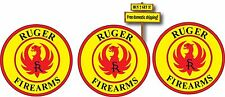 Ruger Decal/Stickers Set of 3 small Gun Rights NRA Pistol 2nd Amendment p57