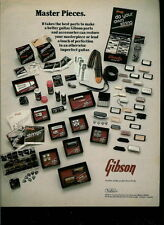 1977 THE GENUINE GIBSON GUITAR PARTS PHOTO AD