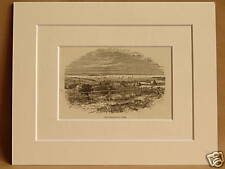 SAN FRANCISCO IN 1849 USA ANTIQUE MOUNTED ENGRAVING FROM 1876 PUBLICATION V RARE