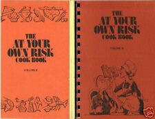 *SAN BRUNO CA LOT VINTAGE *AT YOUR OWN RISK COOK BOOKs *MYERS-STEVENS EMPLOYEES