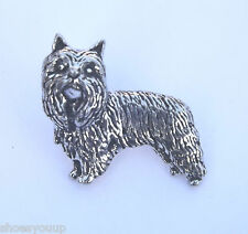 Yorkshire Terrier Dog Hand Made in Uk Pewter Lapel Pin Badge