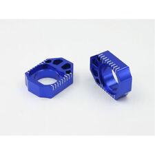ZETA AXLE BLOCKS BLUE YAMAHA YZ 125 250 YZF WRF 250 450 WR CNC ALI ALLOY CHEAP