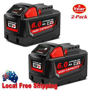 2Newest For Milwaukee M18 Lithium XC 6.0 AH Extended Capacity Battery 48-11-1860
