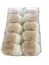 Stitch And Story The Chunky Merino Wool 10 X 100g - Ivory White