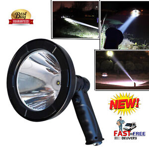 LED Handheld Hunting Spot Light Lamp Dual Charger 10000 Lumens 600m Rechargeable