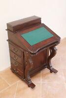 scrivania scrittoio davenport antica inglese mogano XIX secolo XX 8 cassetti