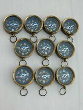 Antiqued Brass Necklace Compass Pendant Working Compass  Lot of 50
