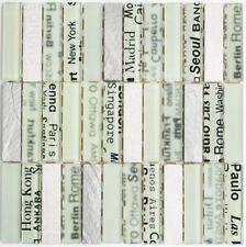 Mosaïque carreau translucide rectangle verre pierre blanc 87-19_f | 10 plaques