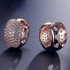 Exquisite Sparkling Cubic Zircon Micro Inlay Huggies Hoop Earrings