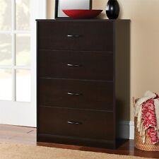 Bedroom Storage Dresser Chest 4 Drawer Modern Wood Furniture Organizer Brown