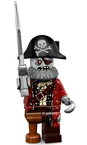 LEGO Minifigures Series 14 Monsters halloween Zombie Pirate with hook hat sword