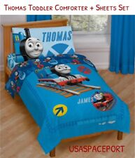 Thomas Train Toddler Bed-in-a-Bag Comforter+Sheets Set Boys/Girls Room Crib 4-pc