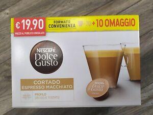 80 CIALDE CAPSULE NESCAFE' DOLCE GUSTO CAFFE' CORTADO ORIGINALI