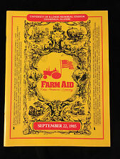 TOM PETTY FARM AID CONCERT PROGRAM-BOB DYLAN-NEIL YOUNG-WILLIE NELSON-1985