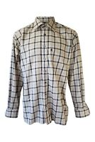 ETERNA EXCELLENT Cream and Black Checked Shirt (41/16)