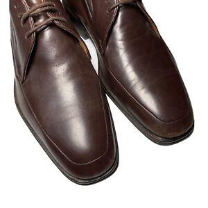 BRUNOMAGLI Ranucolo Square Toe Dress Shoes Men's 10M Derby Brown