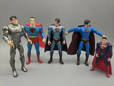 "Vintage Lot Of Five Superman Figures-From 4"" To 5.50'-Free Shipping"