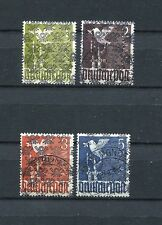 GERMANY 1948 AM/BRITISH ZONE UNISSUED A I/II - A IV/II VFU SET PLEASE READ