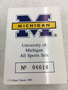 1991 UNIVERSITY OF MICHIGAN U OF M WOLVERINES ALL SPORT COMPLETE SET 57 CARDS MT