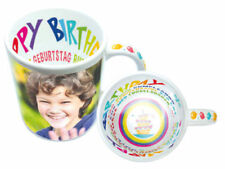 Sublimation Becher Kaffee Happy Birthday Motiv  6 Stück zum selbst Bedrucken Neu