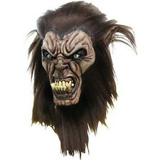 Wolfman Mask Wolf Man Latex Hair Werewolf Adult Scary Party 26482 Haunted