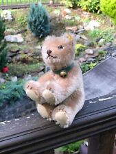 Vintage Steiff  031205 Teddy Bear With Leather Collar & Bell & Button & Label