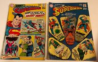 1970 Giant SUPERMAN  #222 & 227  25 cent DC Comic Books