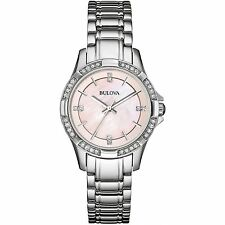 Bulova Stainless Steel Case Adult Analogue Wristwatches