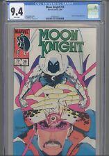 Moon Knight #36 CGC 9.4 1984 Marvel Doctor Strange App: NEW Frame