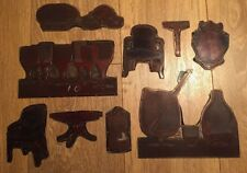 Vintage 1950s Copper Printing Plates Cutout Antique Furniture & Glassware
