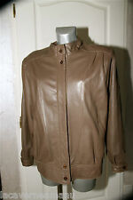 pretty leather jacket brown woman BURBERRY size 42