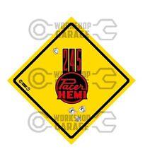 HEMI CHRYSLER VALIANT -Badge Style Stickers - 245 Hemi Pacer Roadsign Red #4