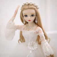 60cm 1/3 Braut BJD Puppe Doll Prinzessin Mit Full Set Perücken Augen Outfit Girl
