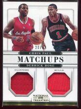 2012-13 National Treasures Matchups 23 Derrick Rose Chris Paul Dual Jersey 20/49