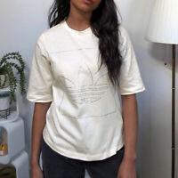 Adidas Originals Classic Women's Chalk White Tee T-Shirt Casual Shirt Top