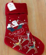 New Pottery Barn Kids Luxe Velvet FLYING REINDEER Christmas Holiday Stocking