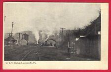 1907 PC - U.Y.C. Railroad Station. Lawrenceville, Pa.