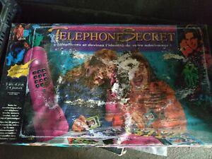 Jeu de Societe Vintage Telephone Secret MB - Très Mauvais État - Incomplet