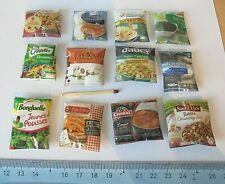 Lot 12 Sachet Aliment Factice Maison Poupée Vitrine Doll House Food miniature