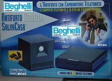 BEGHELLI ANTIFURTO SALVACASA ALLARME TELEFONICO, SIRENA, WIRELESS, 2 TELECOMANDI