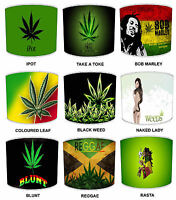 Marijuana Weed Cannabis Lamp Shades Ideal To Match Duvets, Bedding & Curtains