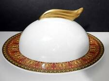 VERSACE Rosenthal MEDUSA RED Covered Butter Dish, Rare !
