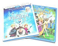 Lot of 2 Blu Ray Dvd Animated Movie Disney Frozen 2014, Disney Tangled 2011