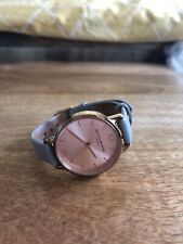 Olivia Burton Ladies Watch. Rose Gold with Grey Leather Strap