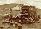 Внешний вид - Wild West Texas Cowboy Chuck Wagon PHOTO Old West Cookie BBQ  Chuckwagon Camp