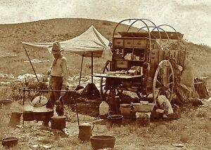 Wild West Texas Cowboy Chuck Wagon PHOTO Old West Cookie BBQ  Chuckwagon Camp