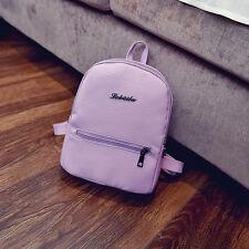 Women PU Leather Backpacks Mini Cute Travel Rucksack Handbags School Bag Simple