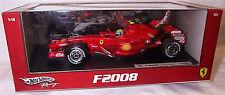 Hot Wheels 1/18 escala Diecast-M0549 Ferrari F2008 Felipe Massa